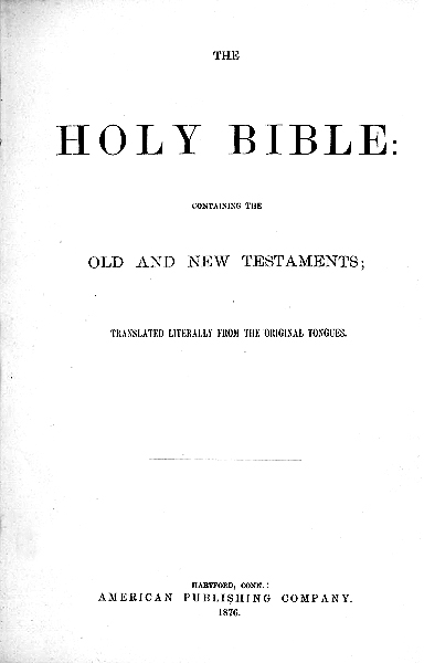 Julia Smith translation, title page