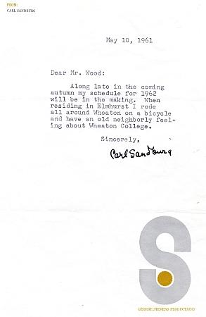 Sandburg letter